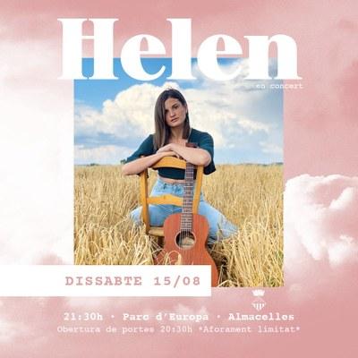 Helen en concert .  Dissabte 15 d'agost a les 21.30 h - Parc d'Europa