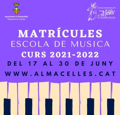 Matrícules Escola Municipal de Música